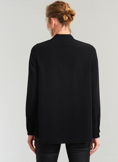 People By Fabrika Ajur Detaylı Gömlek Siyah